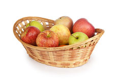 Apples in a basket Royalty Free Stock Photo