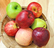 Apples in the basket Royalty Free Stock Photography