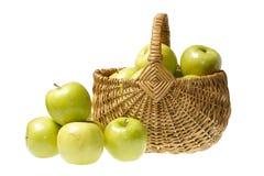 Apples in basket Stock Photo