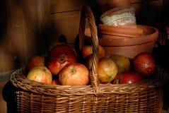 apples basket Στοκ εικόνες με δικαίωμα ελεύθερης χρήσης