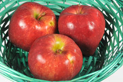 Apples in a basket Stock Image