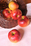 Apples and Basket Stock Photos