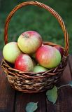 Apples in basket Stock Photos