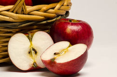 Apples basket Stock Photo