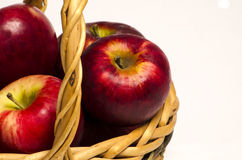 Apples basket Stock Photo