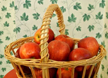 Apples in a  basket country old fashion photograph Stock Photography