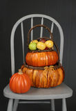Apples in Basket, Fall or Thanksgiving Theme Stock Images