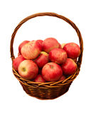 Apples in basket isolated Stock Image