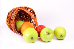 Apples in a basket. Ripe apples in a basket Stock Photo