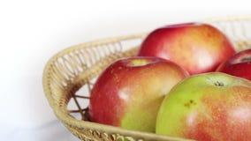 Apples in basket stock video