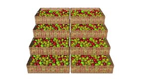 The apples in the basket royalty free stock photo