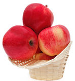 Apples in a basket Royalty Free Stock Images