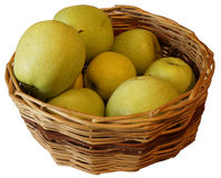 Apples. In a basket on white background, PNG Royalty Free Stock Images