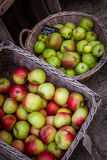 Apples in  baskets Royalty Free Stock Photos