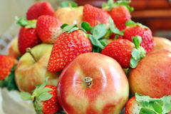 Apples and berries Stock Image