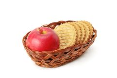 Apples and biscuit Royalty Free Stock Photos