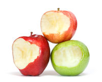 Apples with bite Royalty Free Stock Images