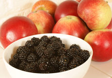 Apples and blackberries Royalty Free Stock Images