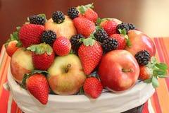 Apples, blackberries and strawberries Royalty Free Stock Photo
