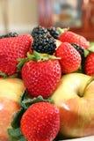 Apples, blackberries and strawberries Stock Image