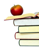 Apples and Books Royalty Free Stock Photos