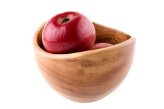 Apples in the bowl. On white background Royalty Free Stock Photography