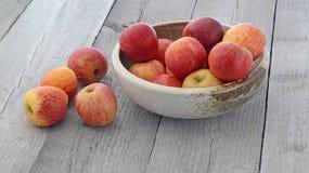 Apples in bowl Stock Photo