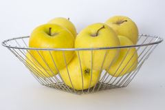 Apples. Apples in a bowl of metal Royalty Free Stock Photo