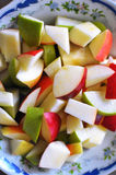 Apples in a bowl. Red, yellow and green apples in a bowl Stock Photography