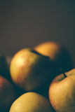 Apples in a bowl, retro toned Royalty Free Stock Images
