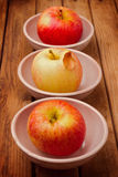 Apples in bowls Royalty Free Stock Images