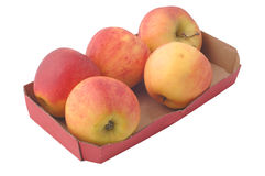 Apples in a box Royalty Free Stock Photos