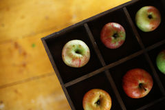 Apples in a box Stock Photo