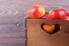Apple in a box Royalty Free Stock Photos