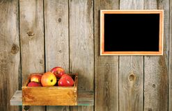 Apples in a box Royalty Free Stock Images