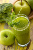 Apples and broccoli smoothie Stock Images
