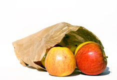 Apples in Brown Paper Bag Royalty Free Stock Photo