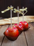 Apples in caramel Royalty Free Stock Images