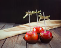 Apples in caramel Stock Photography