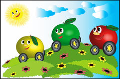 Apples-cars Royalty Free Stock Photo
