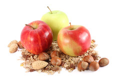 Apples and cereals Royalty Free Stock Image