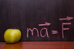 Apples on the chalkboard. Royalty Free Stock Images