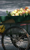 Apples in China. A street vendors cart filled with apples royalty free stock images