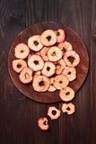 Apples chips, top view Stock Image