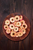 Apples chips, top view Royalty Free Stock Image