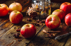 Apples with Christmas Spices. Royalty Free Stock Image