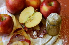 Apples and Christmas Stock Images