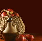 Apples and cider royalty free stock photography