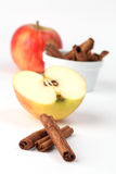 Apples and cinnamon Royalty Free Stock Image