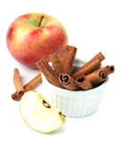 Apples and cinnamon Royalty Free Stock Images